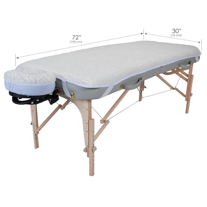 Earthlite Basics Fleece Pad Set - dimensions