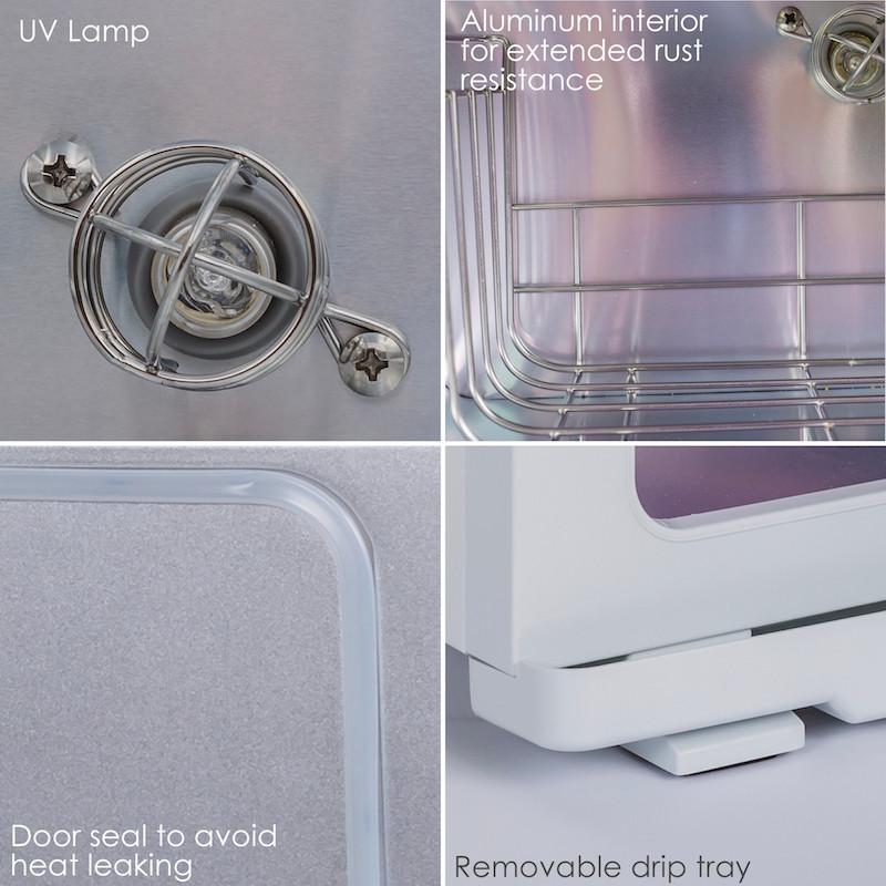 Earthlite Standard UV Hot Towel Cabinet - collage