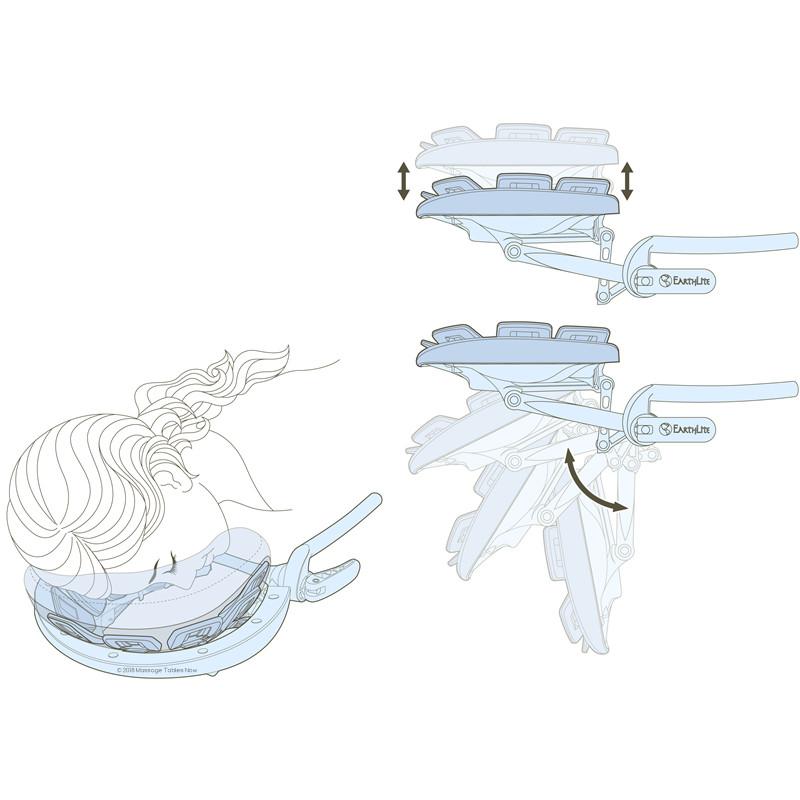 Earthlite Caress Self-Adjusting Head Rest Platform - side view