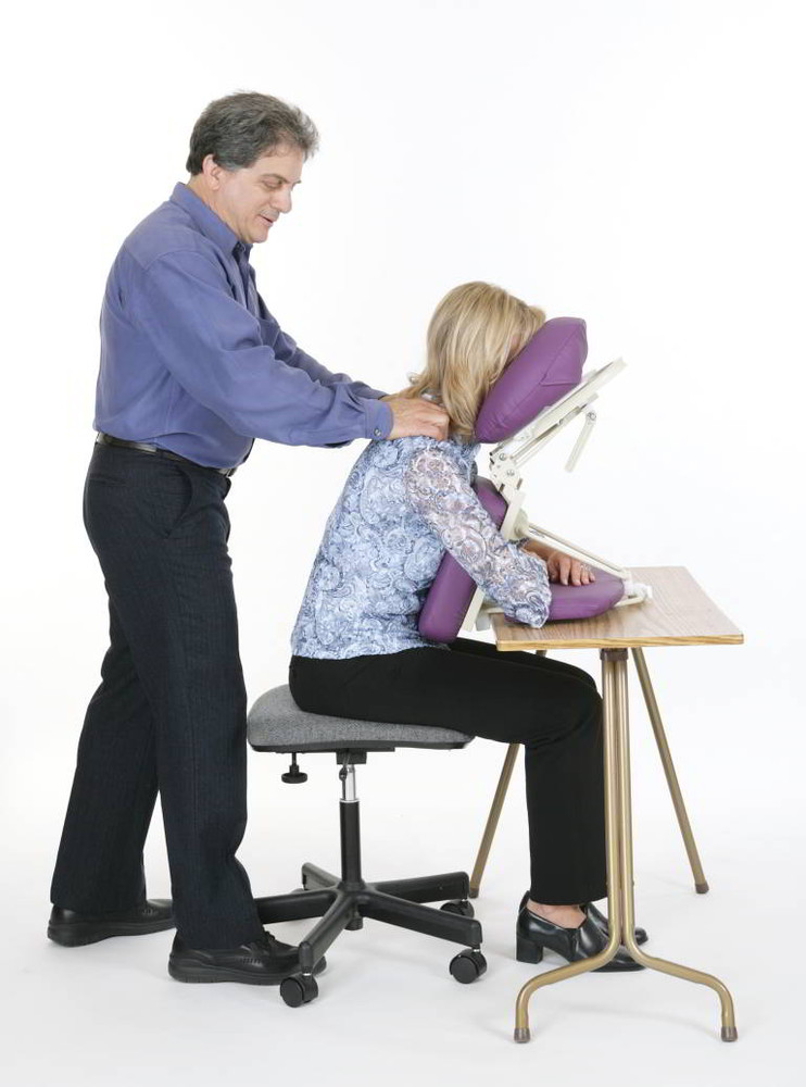 Dolphinette Table Top Massager In Use