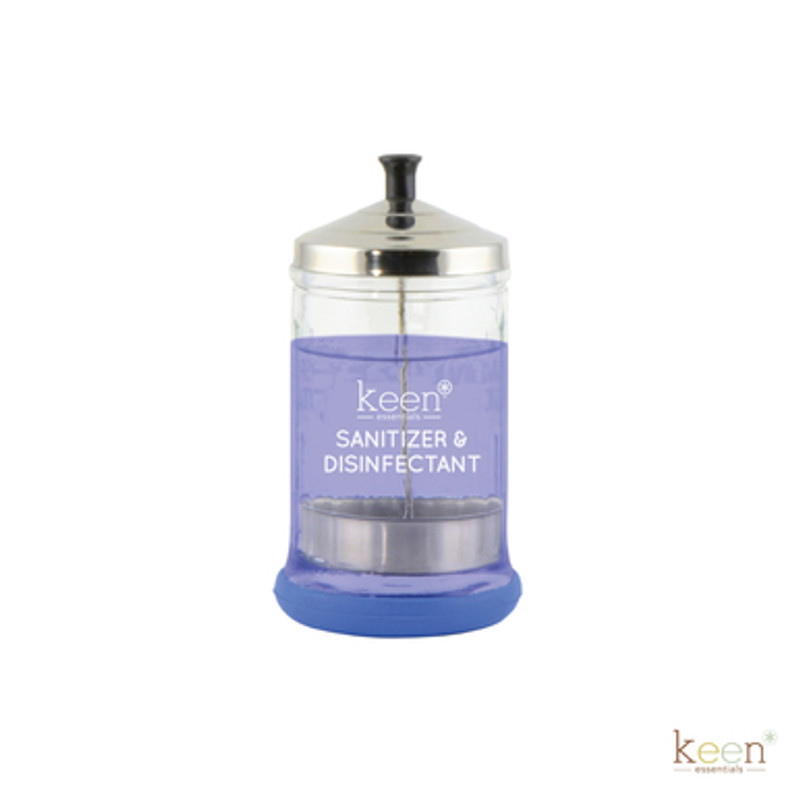 Keen Essentials Sanitizer & Disinfectant Jar, 21oz Heavy-Duty
