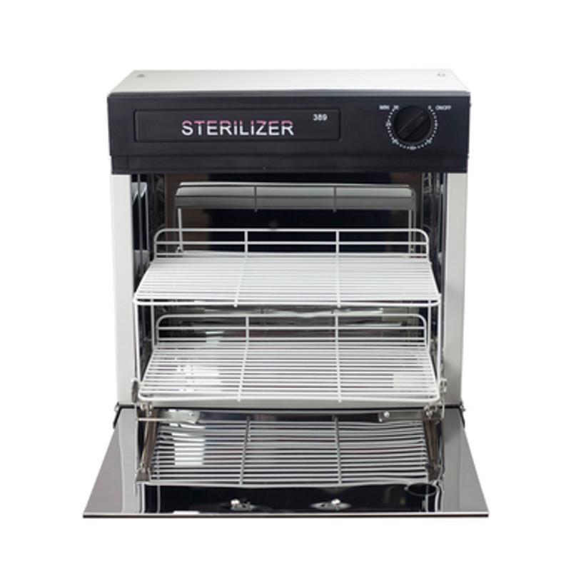 Dermalogic Spa Equipment UV Sanitizer, DENTON front view with shelves