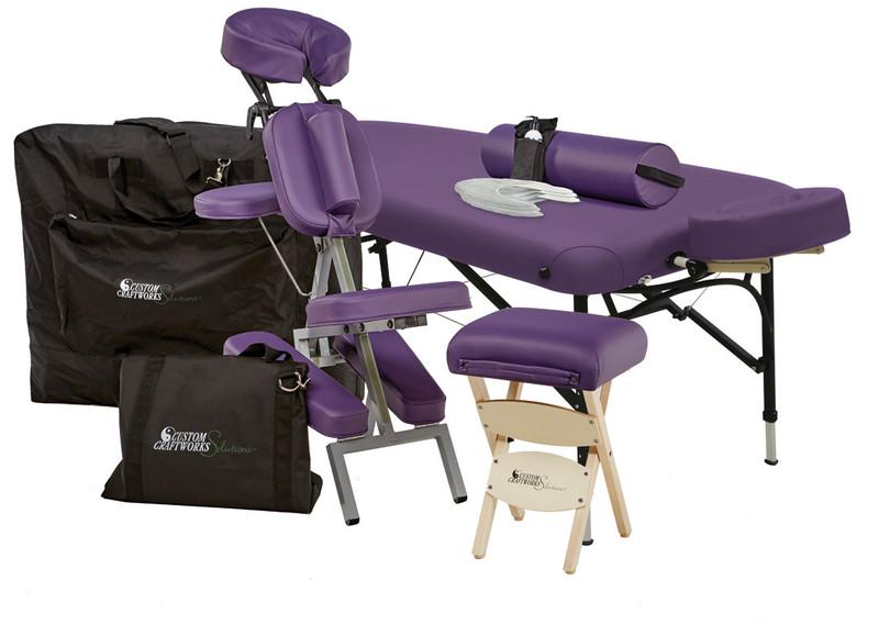 Custom Craftworks Portable Massage Table, Challenger, Business Basics Kit