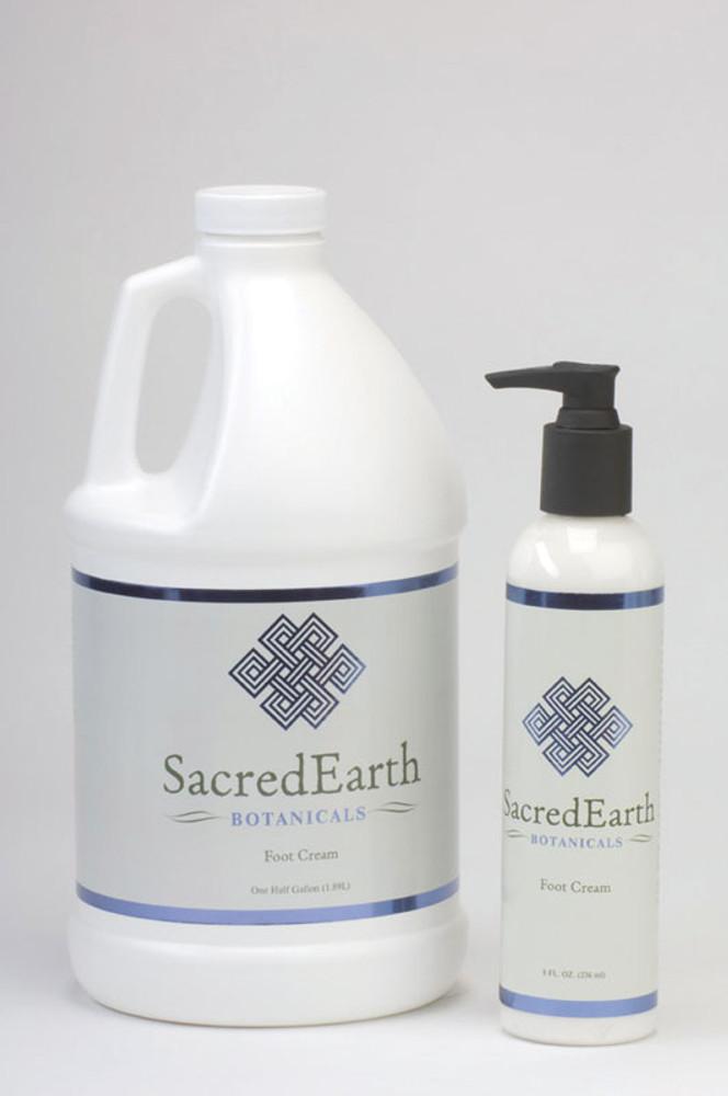 Sacred Earth Botanicals Foot Cream, Organic Peppermint & Lemongrass