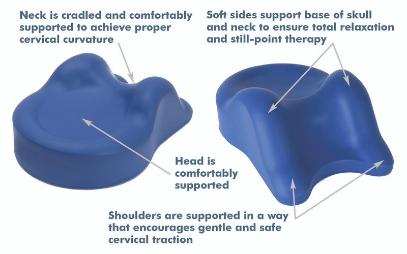 Custom Craftworks Massage Table Cervical Relief Pillow, OMNI features