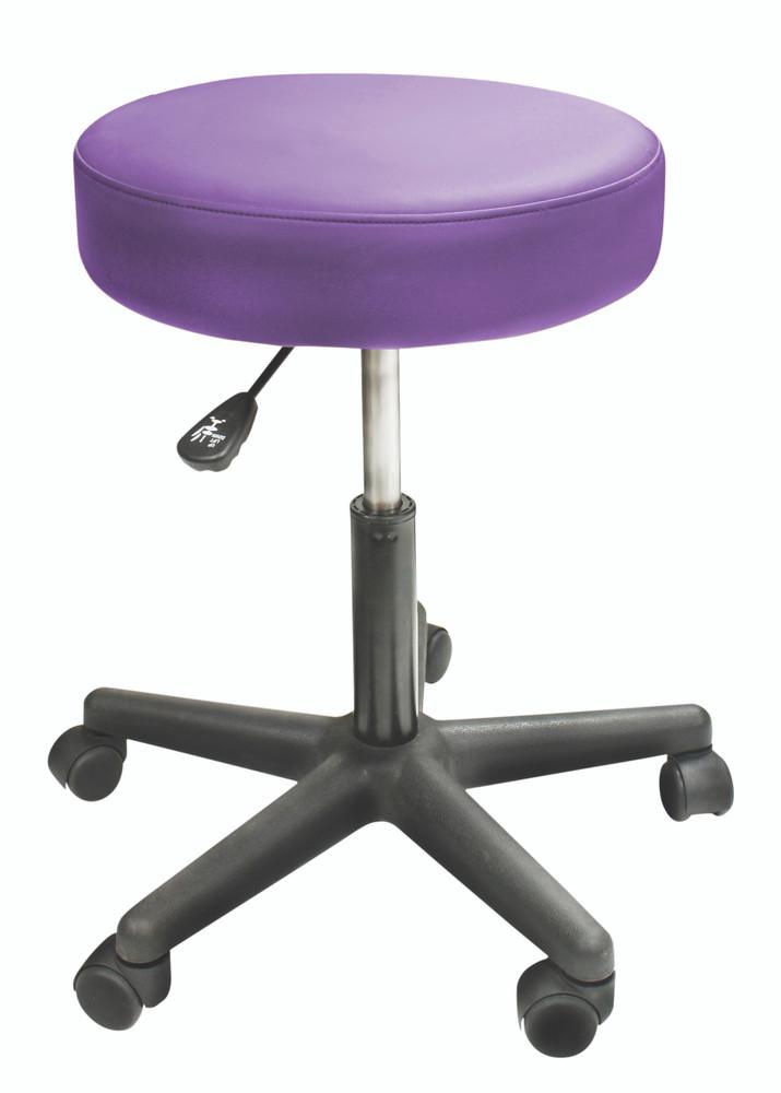 Custom Craftworks Massage Therapist Rolling Stool, Solutions, Purple