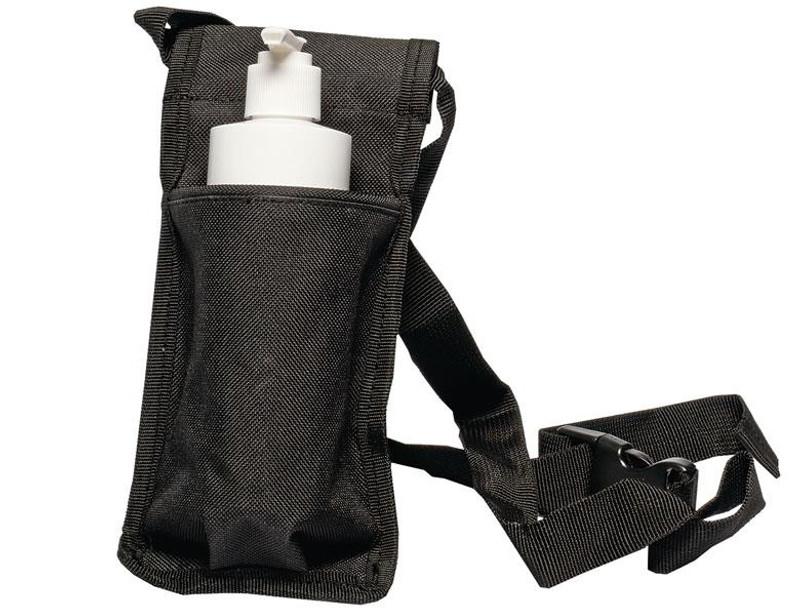Custom Craftworks Oil Holster and BPA Free Pump Bottles, Single, Black