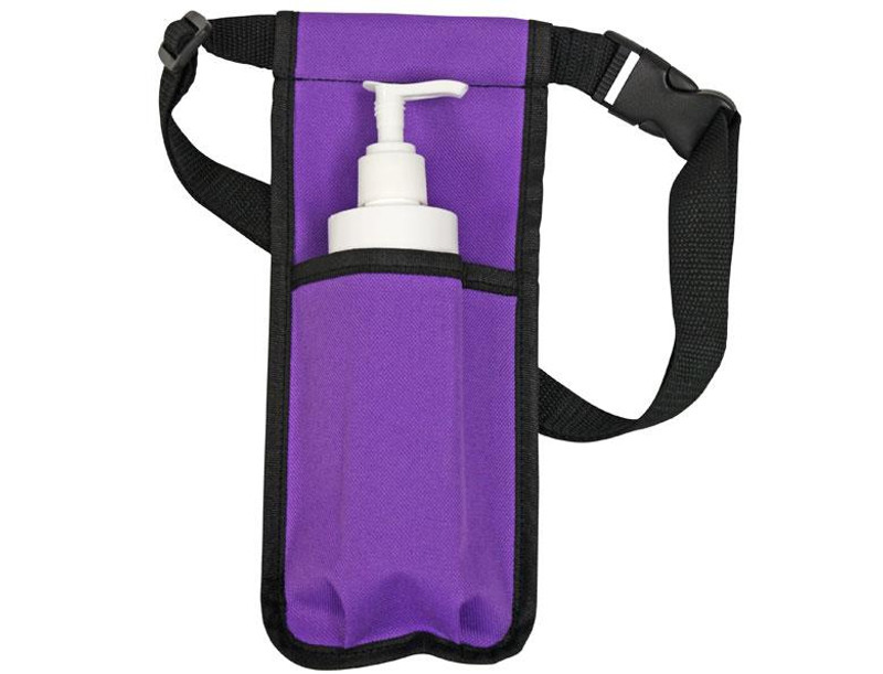 Custom Craftworks Oil Holster and BPA Free Pump Bottles, Single, Purple