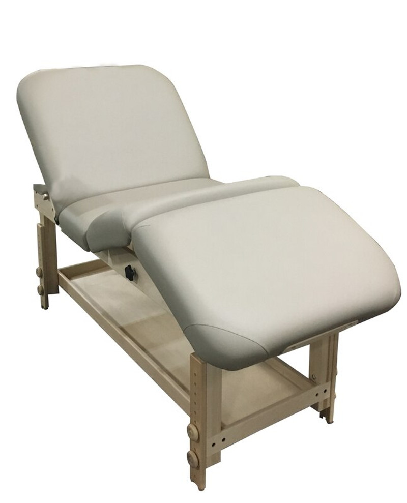 Custom Craftworks Classic Series Massage Table, TAJ MAHAL LIFT BACK, with legs and back tilted