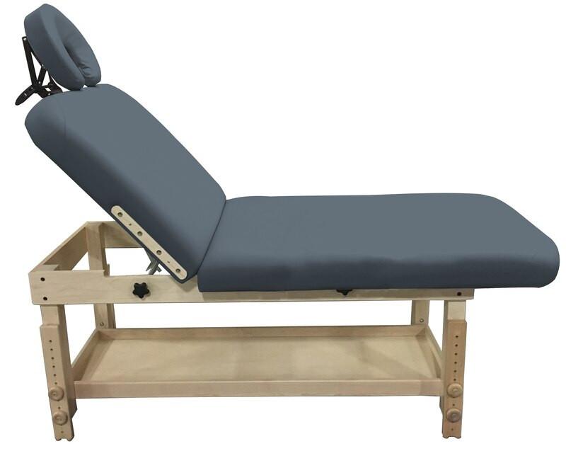 Custom Craftworks Classic Series Massage Table, TAJ MAHAL DELUXE, tilt back view