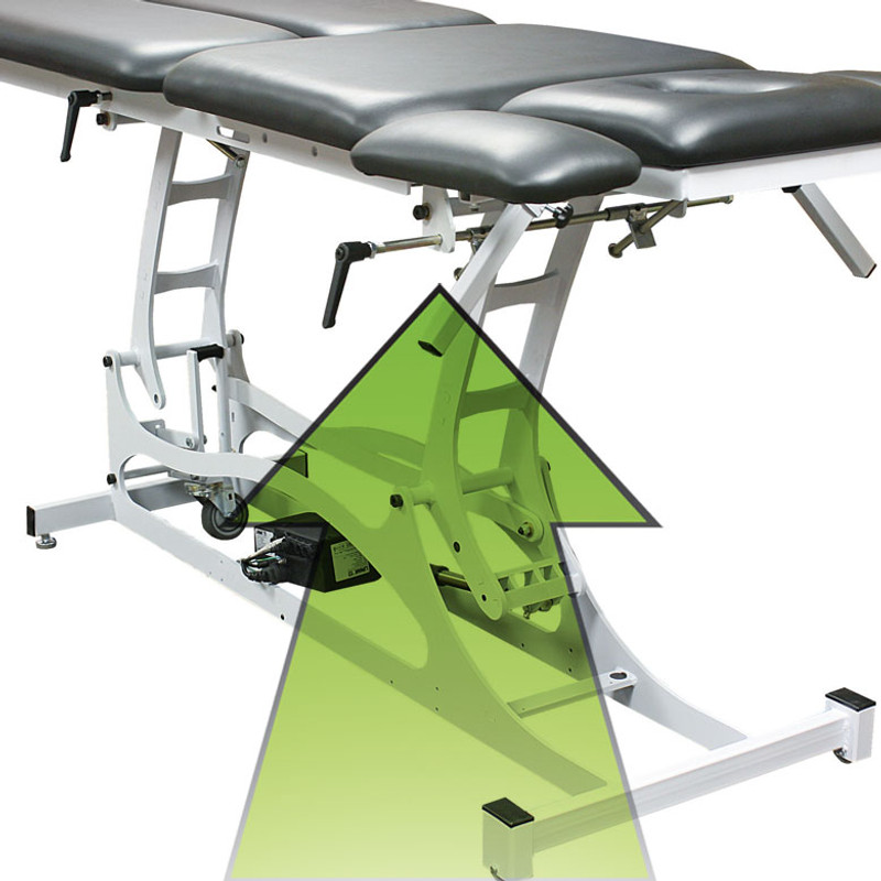 Custom Craftworks Electric Treatment Table, Thera-P Manual Elevating Midsection
