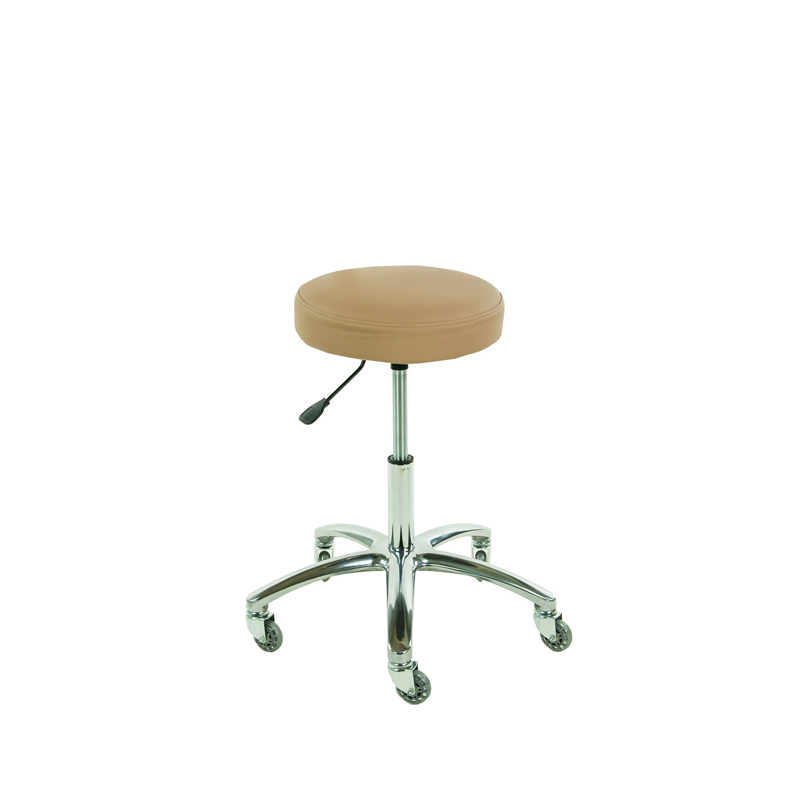 Touch America Therapist/Technician ProStool without Back, High Piston, Camel