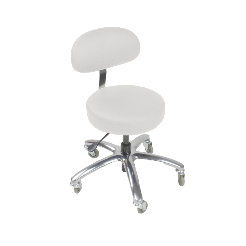 Touch America Therapist/Technician ProStool with Back, Low Piston, Pebble