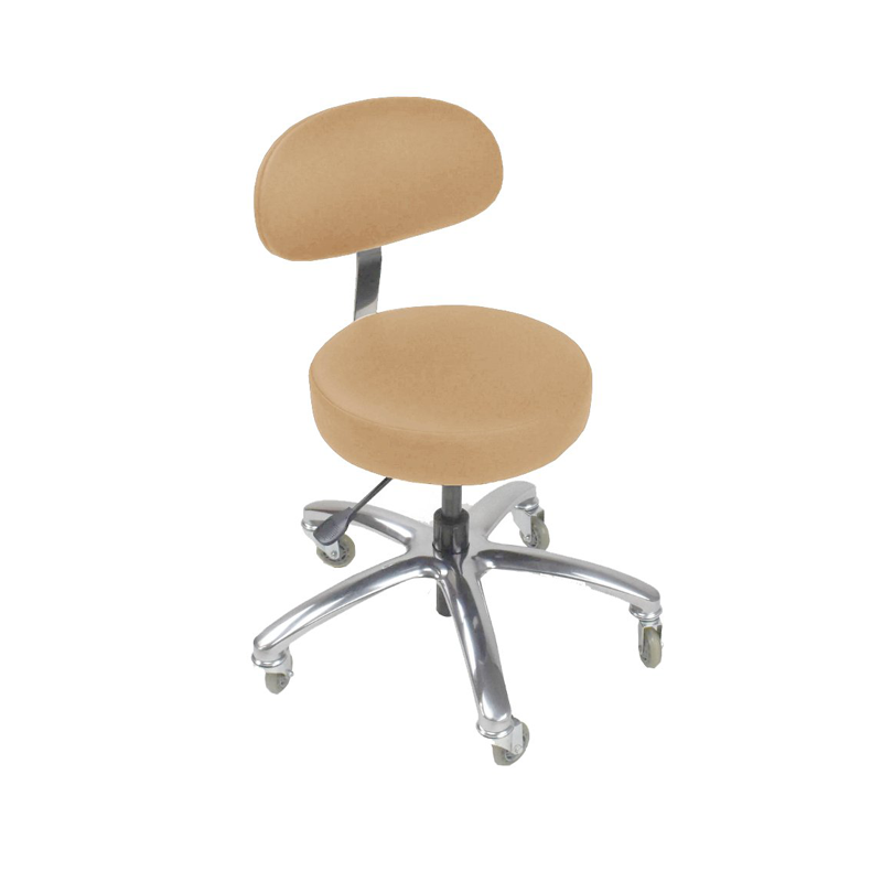 Touch America Therapist/Technician ProStool with Back, Low Piston, Camel