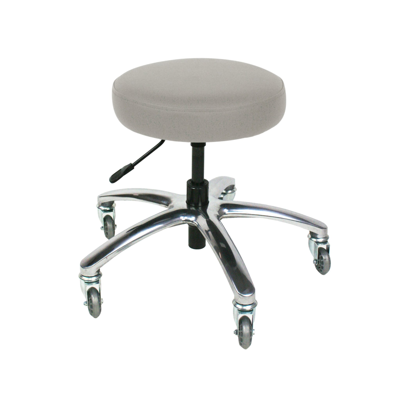 Touch America Therapist/Technician ProStool without Back, Low Piston, Slate