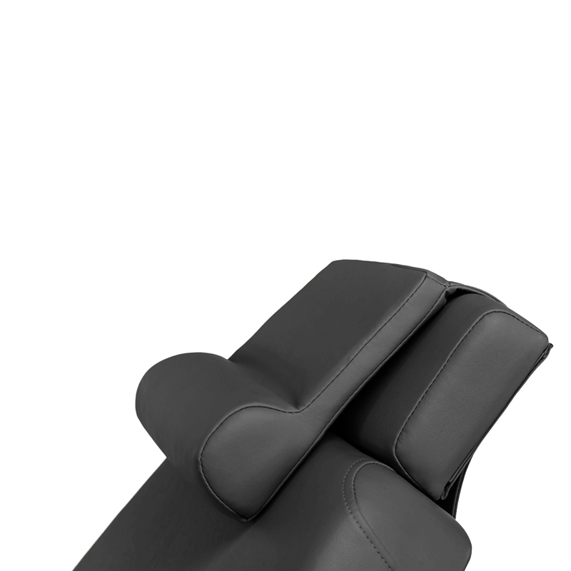Touch America Treatment Table Salon Head/Footrest & Neck Bolster, Black