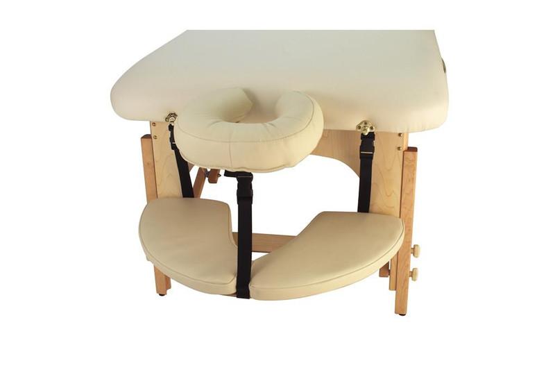 Touch America Massage Table Hanging Armrest Shelf installed