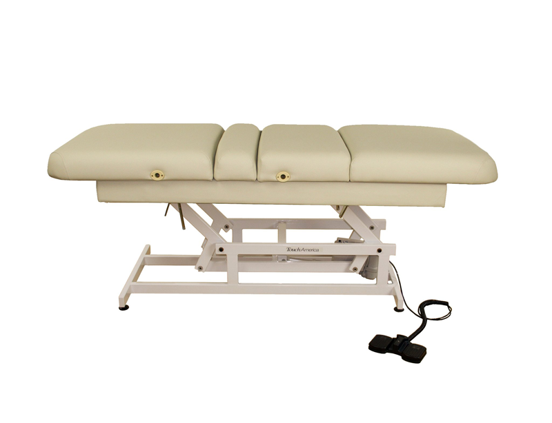 Touch America ADA Powered Lift Treatment Table, HILO MULTIPRO, Almond
