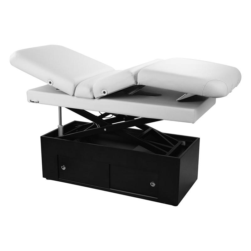Touch America Fully Motorized Massage Table, SANYA POWER TILT, White