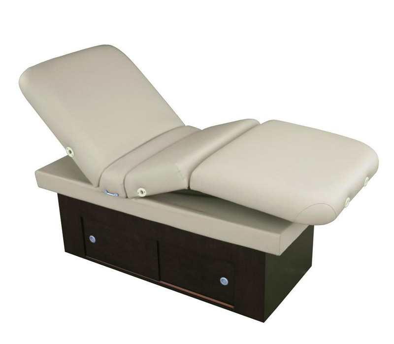 Touch America Fully Motorized Massage Table, SANYA POWER TILT, White with back up