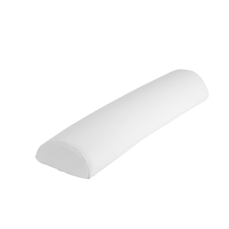 "Touch America Massage Table Bolster, HALF ROUND (27"" x 3""), White"