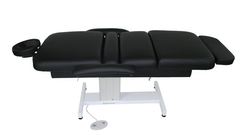 Touch America Powered Lift Spa Treatment Table, VENETIAN MultiPro, Shown flat with accessories not included