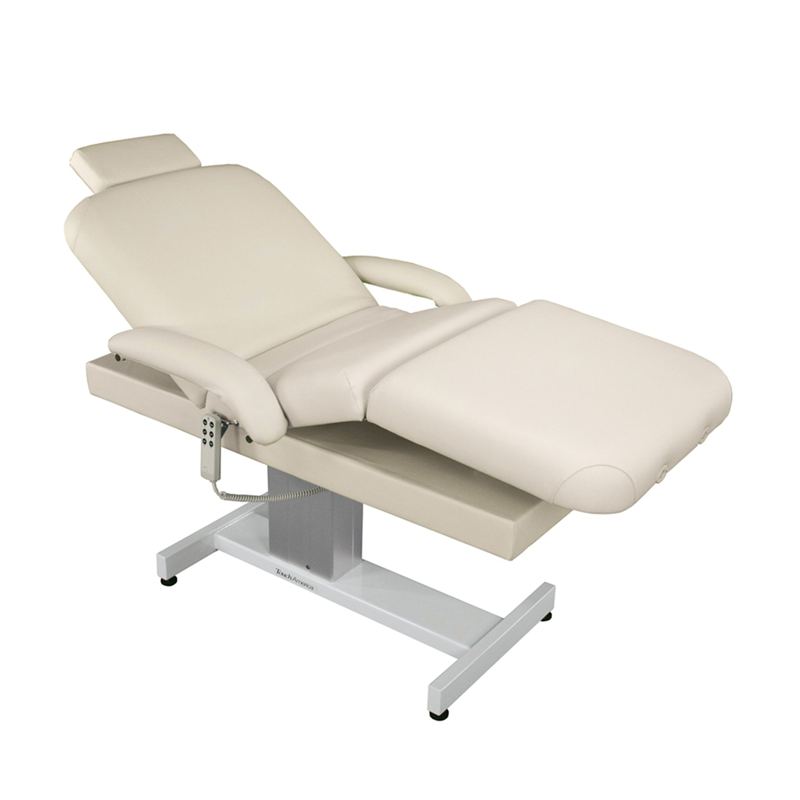 Touch America Powered Lift Spa Treatment Table, VENETIAN PowerTilt, Almond with accessories not included
