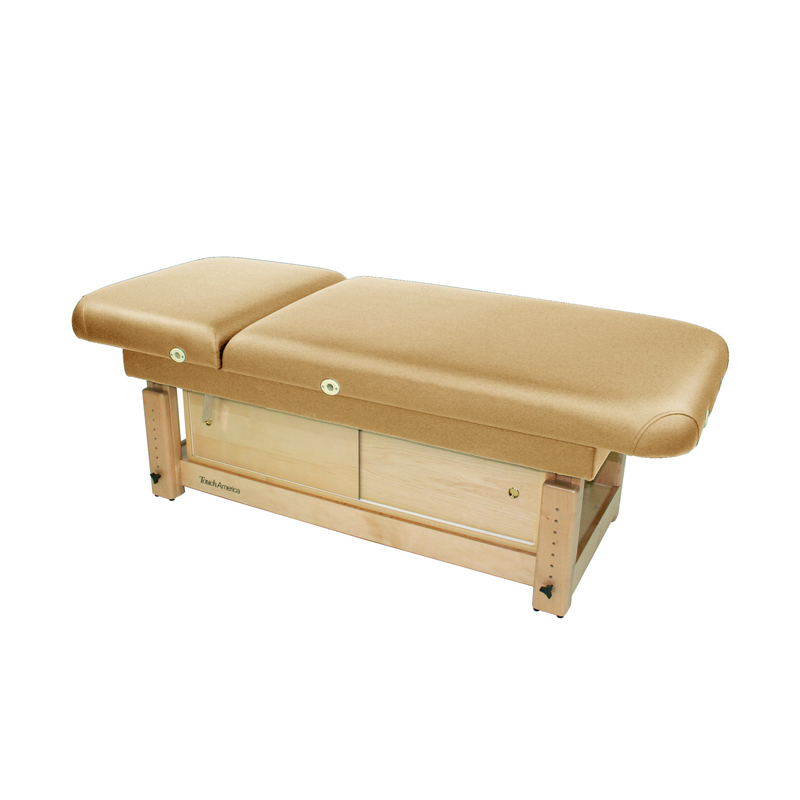 Touch America Stationary Treatment & Massage Table, FACE & BODY, Camel