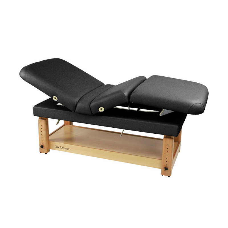 Touch America Stationary Treatment & Massage Table, MULTIPRO, Black