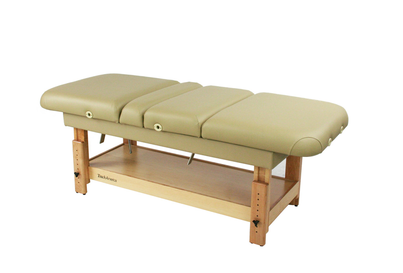 Touch America Stationary Treatment & Massage Table, MULTIPRO, Flat