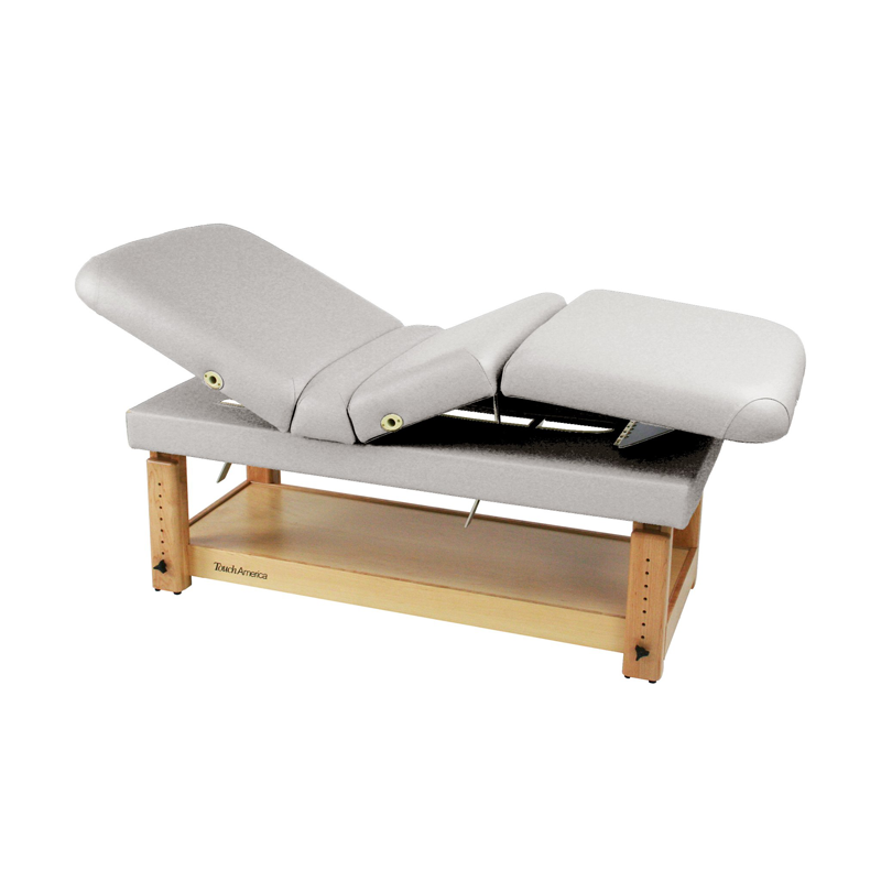 Touch America Stationary Treatment & Massage Table, MULTIPRO, Pebble