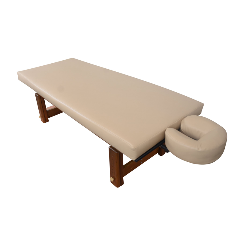 Touch America Outdoor Massage Table, SOLTERRA Teak, top view