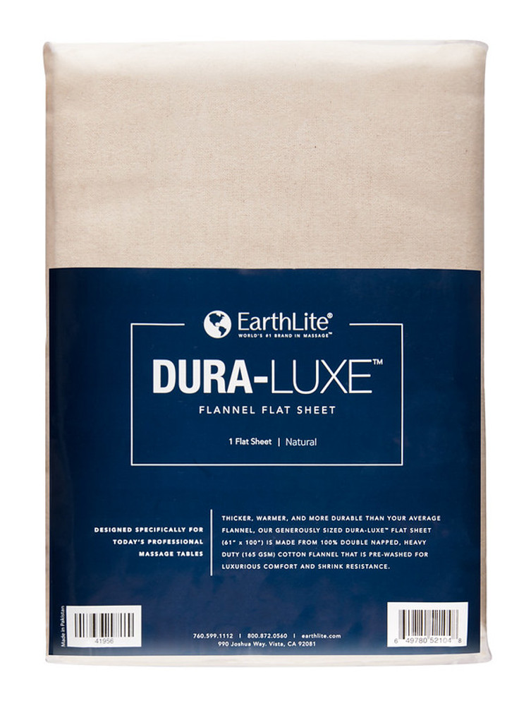 Earthlite Massage Table Sheet, Flannel, Flat, DURA-LUXE,  Natural