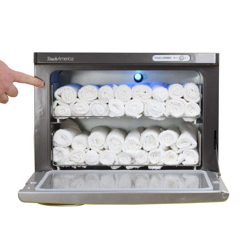 Touch America UV Sanitizing Hot Towel Cabinet, STANDARD, with towels