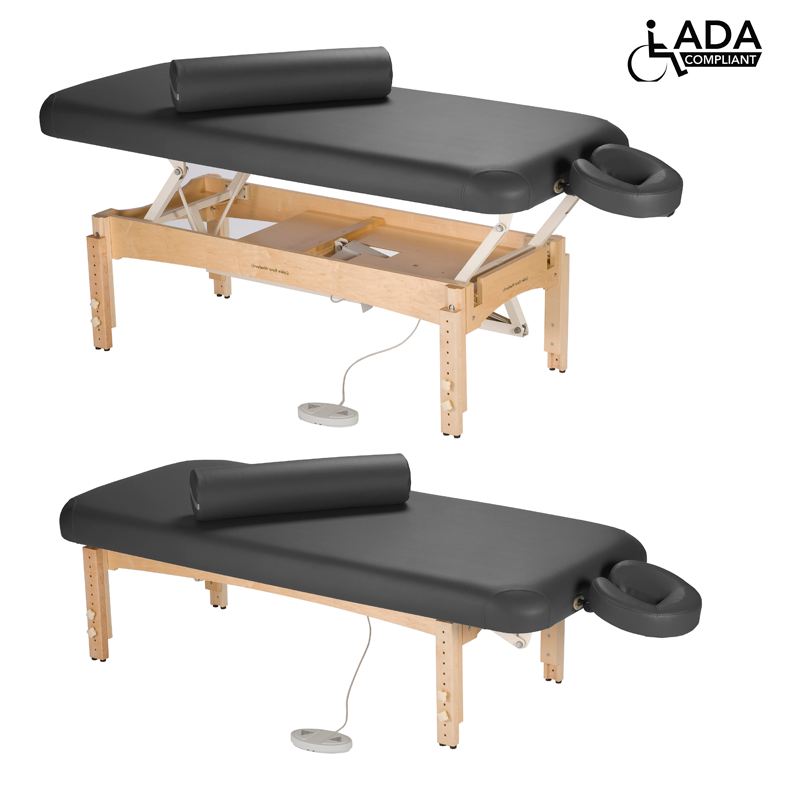 Touch America ADA Powered Lift Massage Table, OLYMPUS, Black