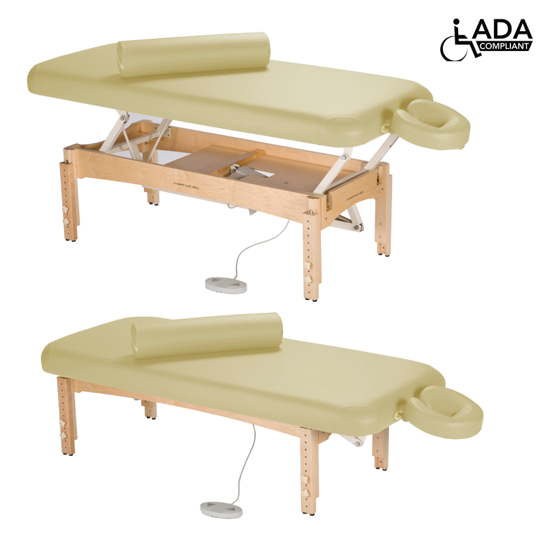 Touch America ADA Powered Lift Massage Table, OLYMPUS, Almond