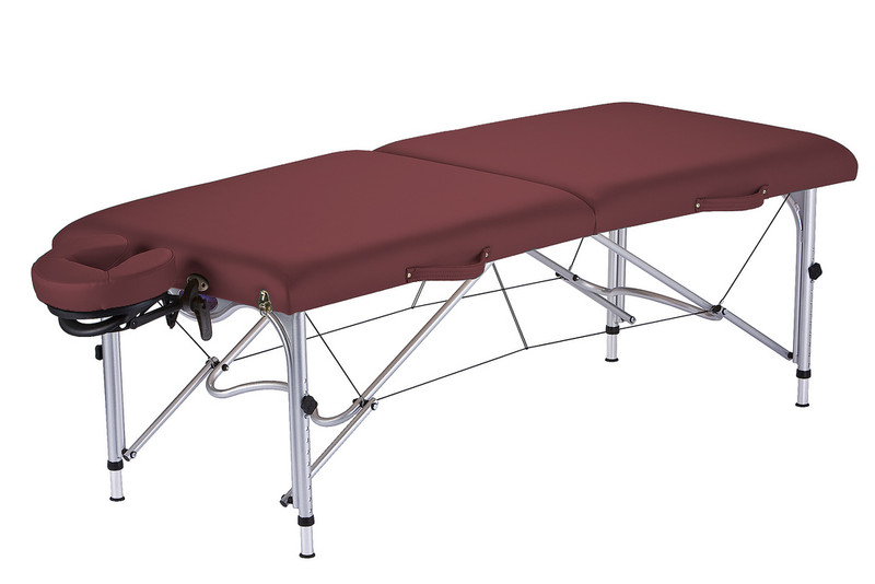 Earthlite Luna Portable Massage Table in Burgundy