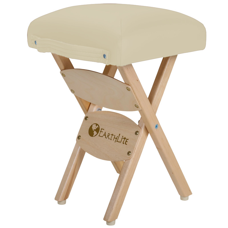 EarthLite Folding Massage Stool - vanilla creme