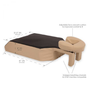 Earthlite Proning Bolster and Headrest, Prone Comfort, Dimensions