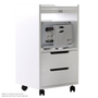 Earthlite Spa Furniture, Trolley, Alpha 2, White Ash, with Mini Hot Towel Cabinet