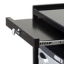 Earthlite Spa Furniture, Trolley, Alpha 2, Midnight Black, Working Surface