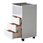 Earthlite Spa Furniture, Trolley, Alpha 3, White Ash, Open Drawers
