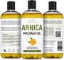 Seven Minerals Massage Oil, ARNICA, 16oz, Front and Back Label