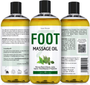 Seven Minerals Massage Oil, Foot, 16oz, Front and Back Labels