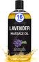 Seven Minerals Massage Oil, Lavender, 16oz