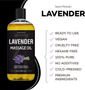 Seven Minerals Massage Oil, Lavender, 16oz, Key Features