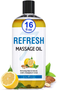 Seven Minerals Massage Oil, Refresh, 16oz