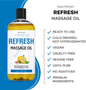 Seven Minerals Massage Oil, Refresh, 16oz, Key Features