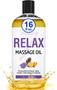 Seven Minerals Massage Oil, Relax, 16oz