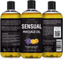 Seven Minerals Massage Oil, Sensual, 16oz, Front and Back Label